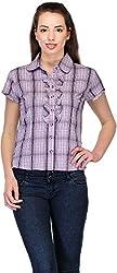 Belle Women's Checkered Casual Shirt (BC -120_38)