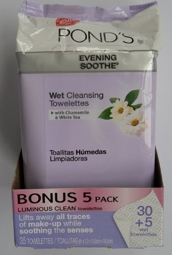 Pond's Evening Soothe Wet Cleansing Towelettes 30+5 Bonus Wi