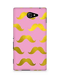 Amez designer printed 3d premium high quality back case cover for Sony Xperia M2 D2302 (pink gold muchi)