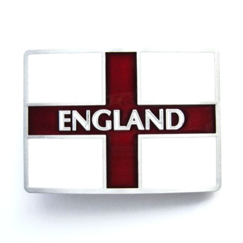 Hogar Mens Zinic Alloy Belt Buckle England Uk Buckles Color Red And White