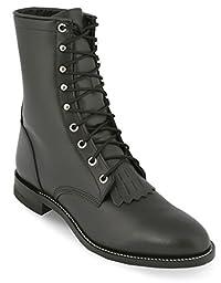 Justin Men\'s Justin&Reg; Original Lacer Cowboy Boot Round Toe Black 11.5 EE US