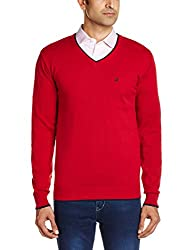 People Men's Cotton Sweater (8903880690168_P10101188003101_XX-Large_Red)