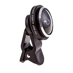 Mobilegear 235 Degree Super Fisheye Universal Mobile Camera Clip Lens for Amazing Smartphone Photography