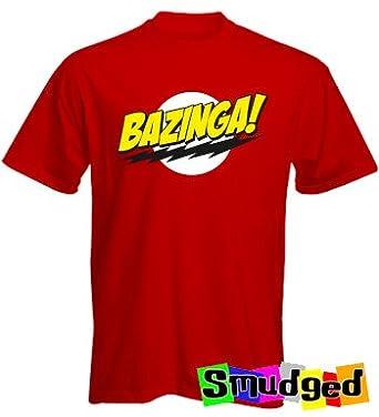 "Bazinga Multi Colour TEE - red - XX-Large ( 46"" Chest)"
