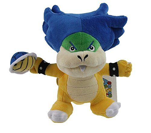 "Super Mario Bros ludwig koopa with shell Plush doll toy 7"" New - 1"