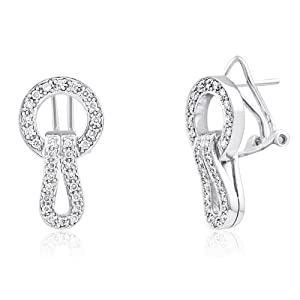 18K WHITE GOLD 0.50CTW DIAMOND EARRING