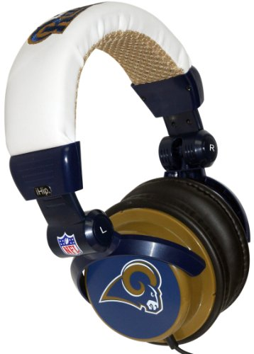 iHip NFH22STR NFL St. Louis Rams DJ Style Headphones, Blue/Gold at Amazon.com
