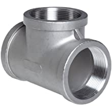Stainless Steel 316 Cast Pipe Fitting, Tee, MSS SP-114, NPT Female