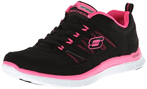 Skechers Flex Appeal Spring Fever, Chaussures de fitness femme - Noir (Bkhp), 38 EU (8 US)