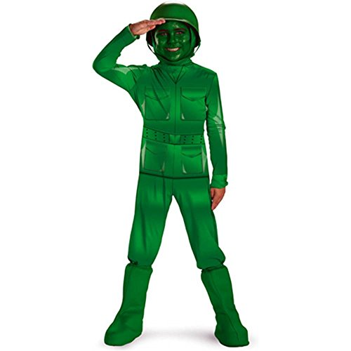 Green Army Man Deluxe Toddler Costume - 3T-4T