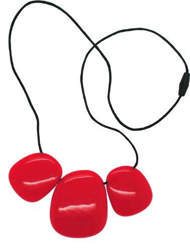 Troika Necklace - Silicone (Teething/Nursing) (Scarlet Red)