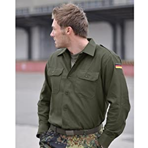 BW Army Tactical Mens Shirt Combat Uniform Military Jacket Airsoft Olive by Mil-Tec