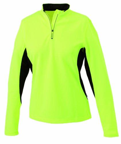 James & Nicholson - Running Shirt, Camicia di maternità Donna, Giallo (fluoyellow-black), Medium (Taglia Produttore: Medium)