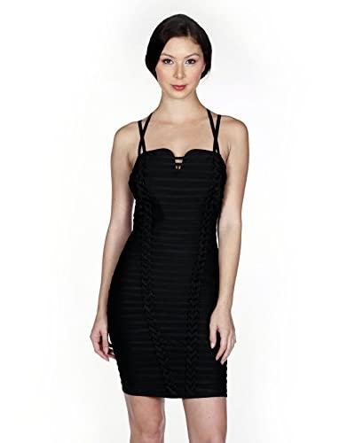 Wow Couture Women's Strappy Interwoven Bandage Dress