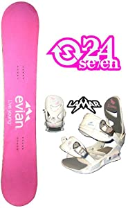 Buy 154cm Evian Live Young Camber Ladies Snowboard, Boots and Bindings Package or deck, U build it by Boards For Less