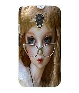 Fuson 3D Printed Cute Doll Designer Back Case Cover for Motorola Moto G2 - D728