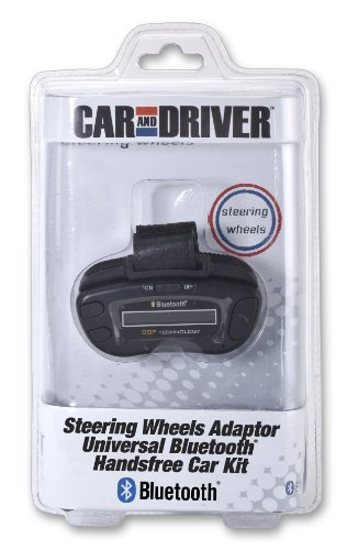 Car And Driver Universal Steering Wheel Bluetooth Car Kit With Caller Id And Echo And Noise Suppression - Black
