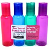 Mon Image 3oz Air Travel Bottle 4 Count Assorted Colors