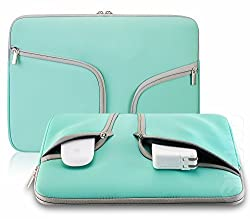 Steklo - HOT TEAL Neoprene Soft Sleeve Case Bag for All Laptop 15-inch & MacBook Pro 15.4