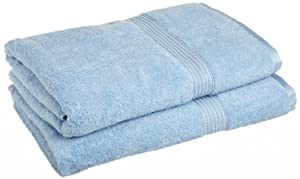 Luxury - 2 piece BLUE BATH SHEET SET - 100% Genuine Egyptian Cotton