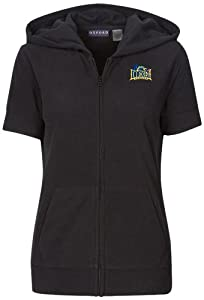 NCAA Drexel Dragons Ladies Short Sleeve Full Zip Polar Fleece Hoodie, Black by Oxford