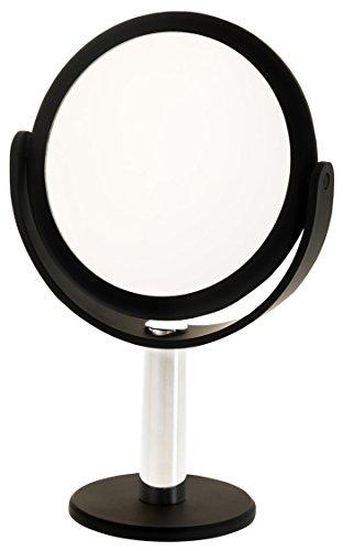 Danielle Enterprises Long Neck Soft Touch 10X Magnification Mirror, Black front-235071