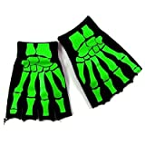 "Fingerlose Handschuhe BONE HANDS black-greenvon ""MIK Funshopping"""