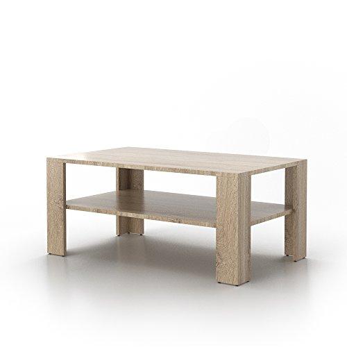 Couchtisch Tisch Wohnzimmertisch Loungetisch Beistelltisch Ablage Eiche Sonoma