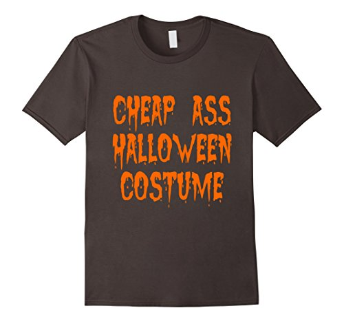 Men's Cheap Ass Halloween Costume,Pumpkin Halloween T-Shirt Medium Asphalt (Cheap Halloween Costumes Male)
