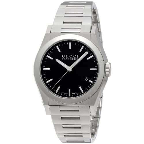 [グッチ]GUCCI 腕時計 パンテオン ブラック文字盤 デイト YA115423 メンズ 【並行輸入品】