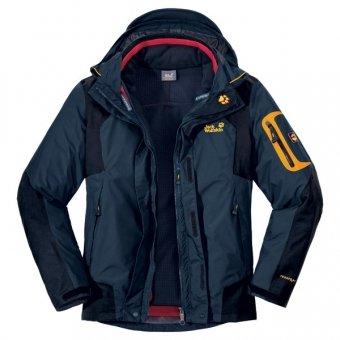 JACK WOLFSKIN Men's 14th Peak Jacket, Black, XXL