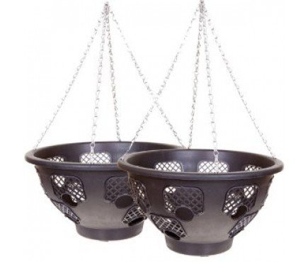 "BOGOF 15"" Large Easy Fill Hanging Basket (= 2 baskets)"