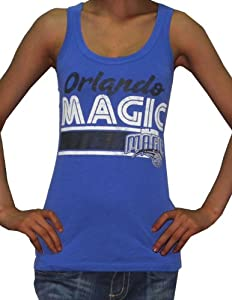 Womens NBA Orlando Magic Athletic Crew-Neck Tank Top (Vintage Look) L Blue