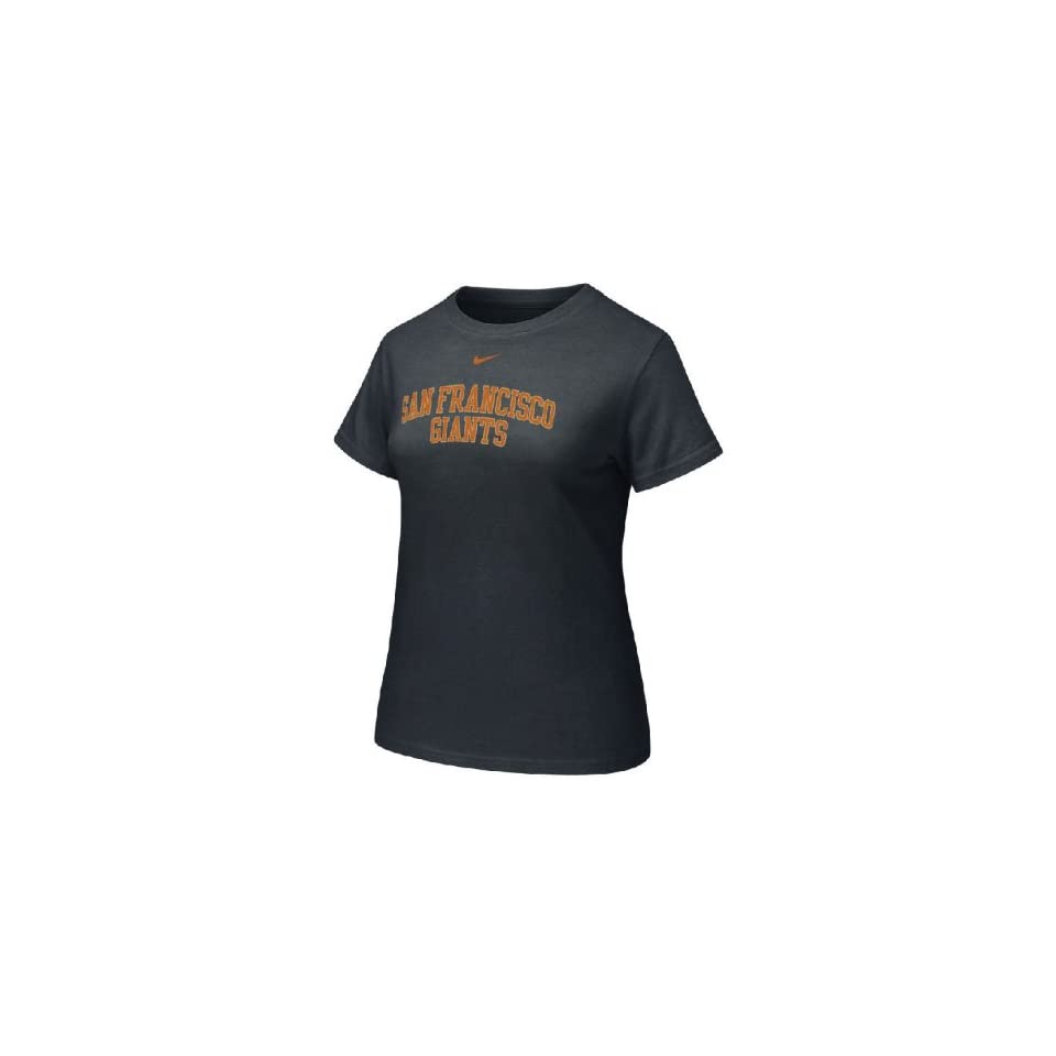 San Francisco Giants Womens MLB Black Arched Graphic Tee By Nike Team Sports