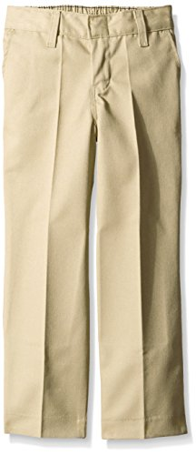 Dickies Little Boys' Classic Flat Front Pant,Khaki,12 Slim