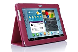 SupCase Slim Fit Folio Leather Tablet Case Cover for 10.1-Inch Samsung Galaxy Tab 2 Deep Pink (S5113-62A-DP)