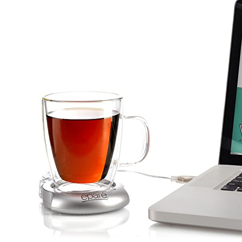 Eparé USB Mug Warmer for Desktop Warming of Tea or Coffee Cups use with Laptop (Cordless Portable Car Heater compare prices)