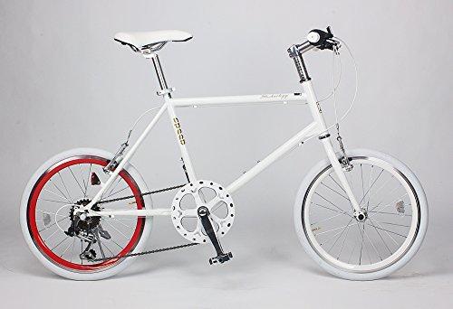 21Technology ミニベロ 20インチ クロスバイク CL20 シマノ6段変速 (ホワイト・レッド)
