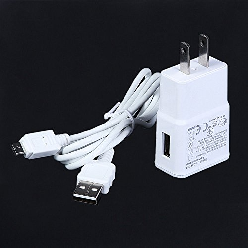 NiceTQ Wall AC Power Charger + USB Charging Data Cable For Samsung Galaxy Tab 3 7.0 SM-T210 T211 WH
