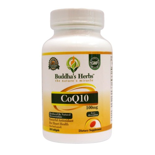 Buddha's Herbs High Absorb CoQ10-100 mg, 100c-CONSUMER LAB Certified