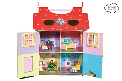 Teamson Magic Garden Dolls House includes Furniture