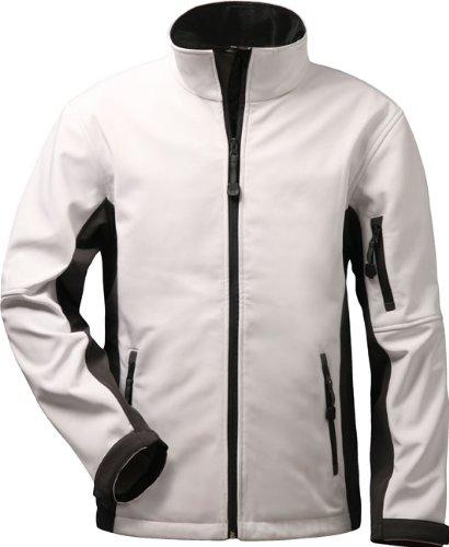 Softshell Jacke Damen mit vielen Taschen – Laura – weiß/grau online kaufen
