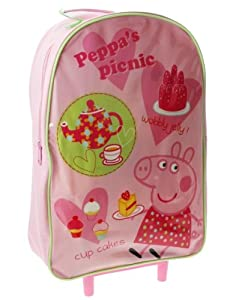 Trade Mark Collections Peppa Pig Picnic Wheeled Bag Pink by Trade Mark Collections