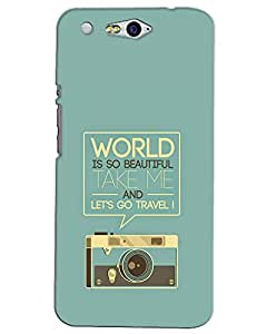 WEB9T9 Infocus M812 Back Cover Designer Hard Case Printed Cover