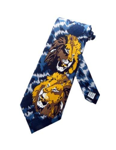 parquet-mens-lion-king-of-the-jungle-necktie-blue-gray-one-size-neck-tie