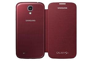 Samsung Galaxy S4 Flip Cover Folio Case (Red)