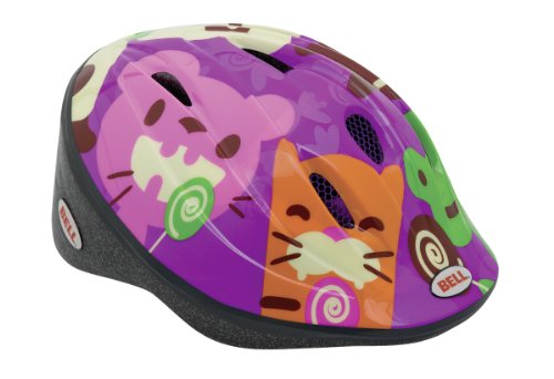Bell Fahrradhelm Bellino, purple lollipop animals, 52-56 cm, 210021014