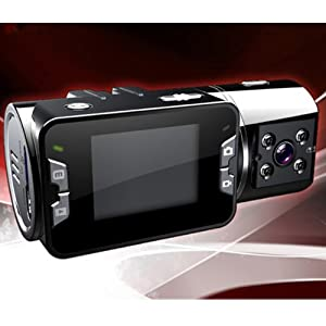 """VERSION HD 2.0"""" IR Night Vision 720p Dual Lens Vehicle Car Camera DVR Recorder Support Up To 32GB Micro SD Card from Brainydeal"""