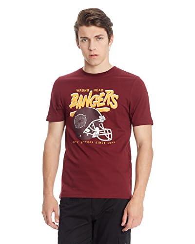 Wrung T-Shirt Manica Corta Head Bangers [Bordeaux]