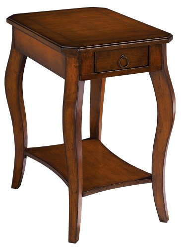 Buy low price brown cherry finish chairside 16 wide end for Wide side table